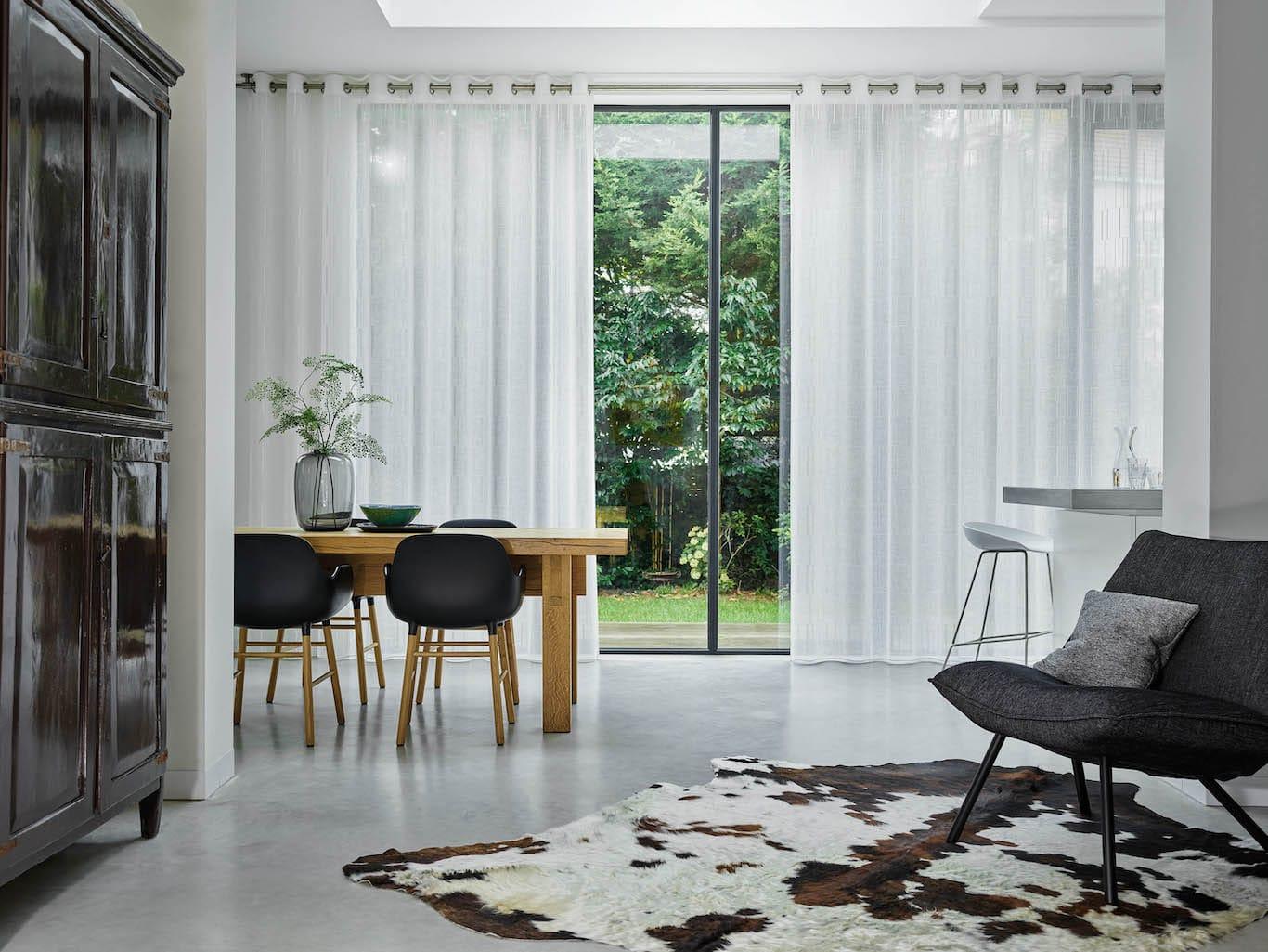 rideau blanc haut de gamme