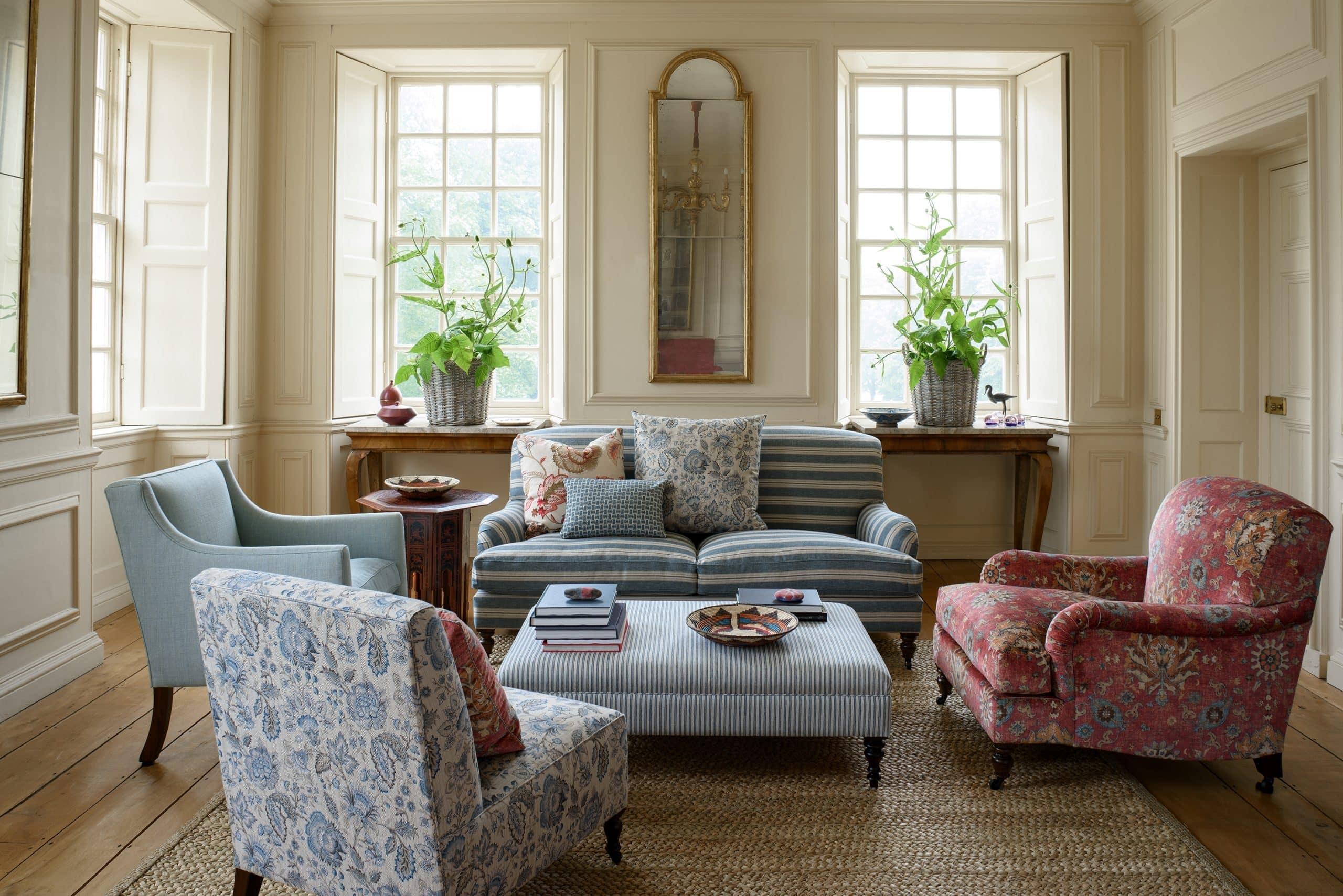 canapé et fauteuil rénové recouvrement tissu