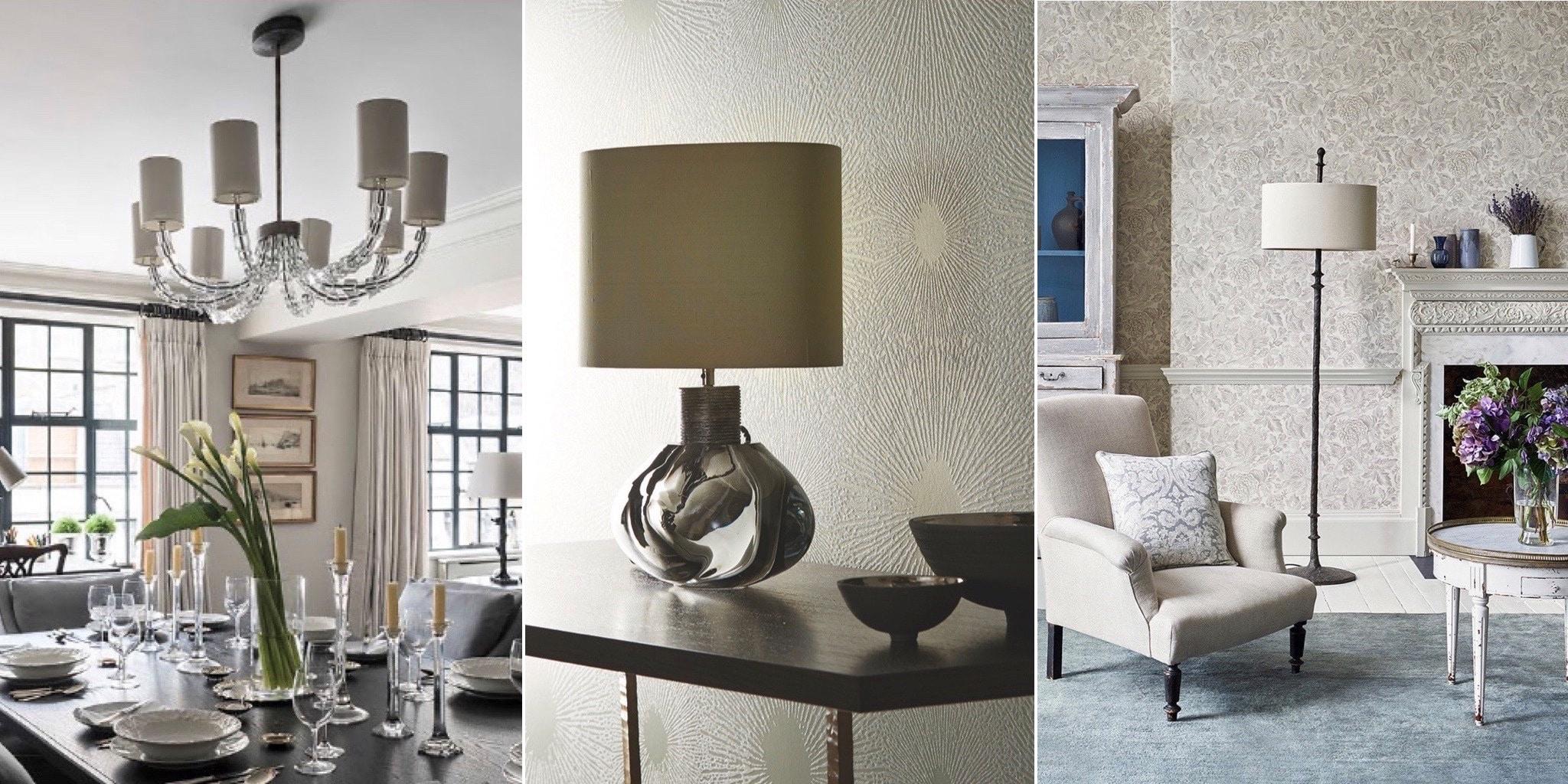 lustre, lampe à poser et lampe de salon