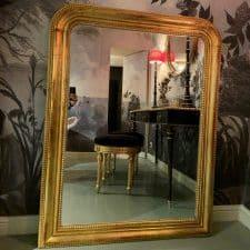 Grand miroir doré hall d'entré Luxembourg