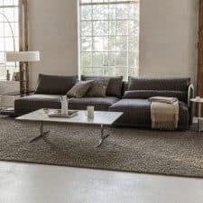 Grand tapis brun modern design Luxembourg