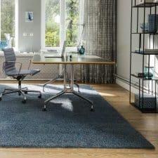 Tapis bleu carré pour bureau ou chambre luxembourg