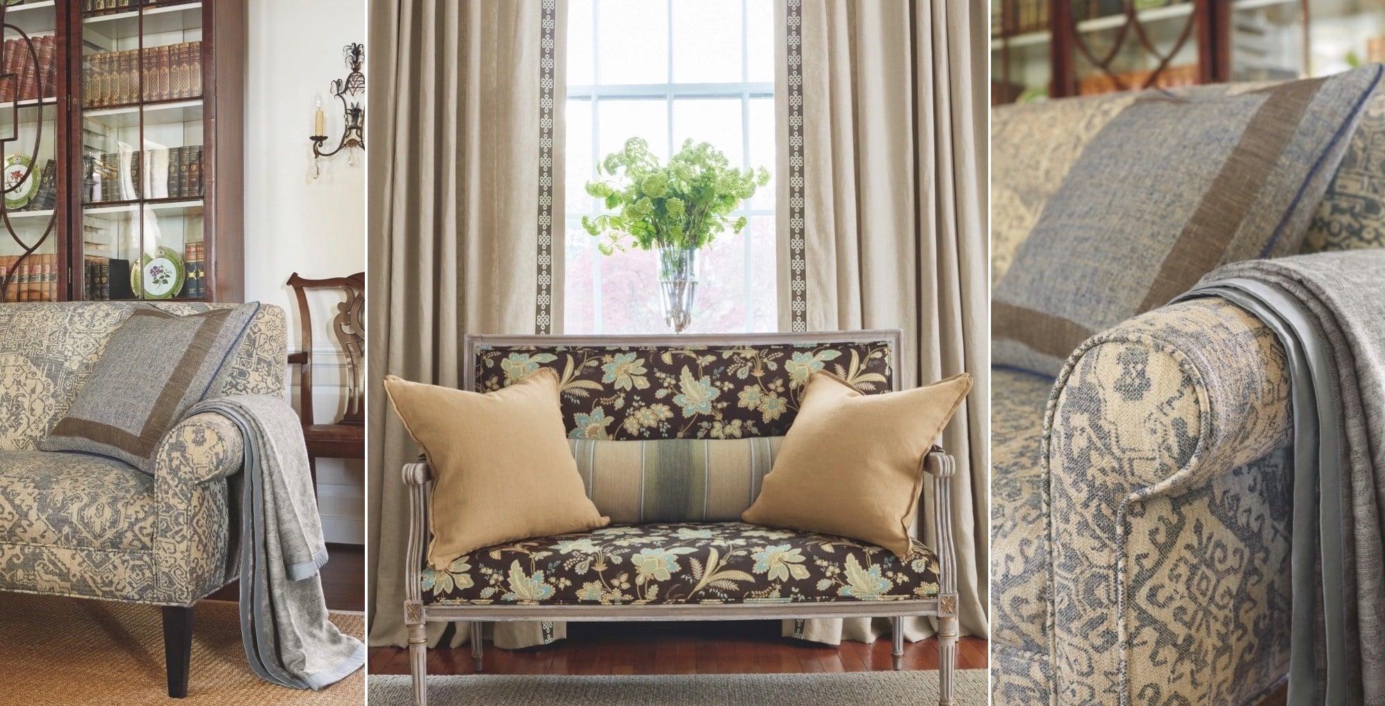 canapé recouvert de tissu pour renovation