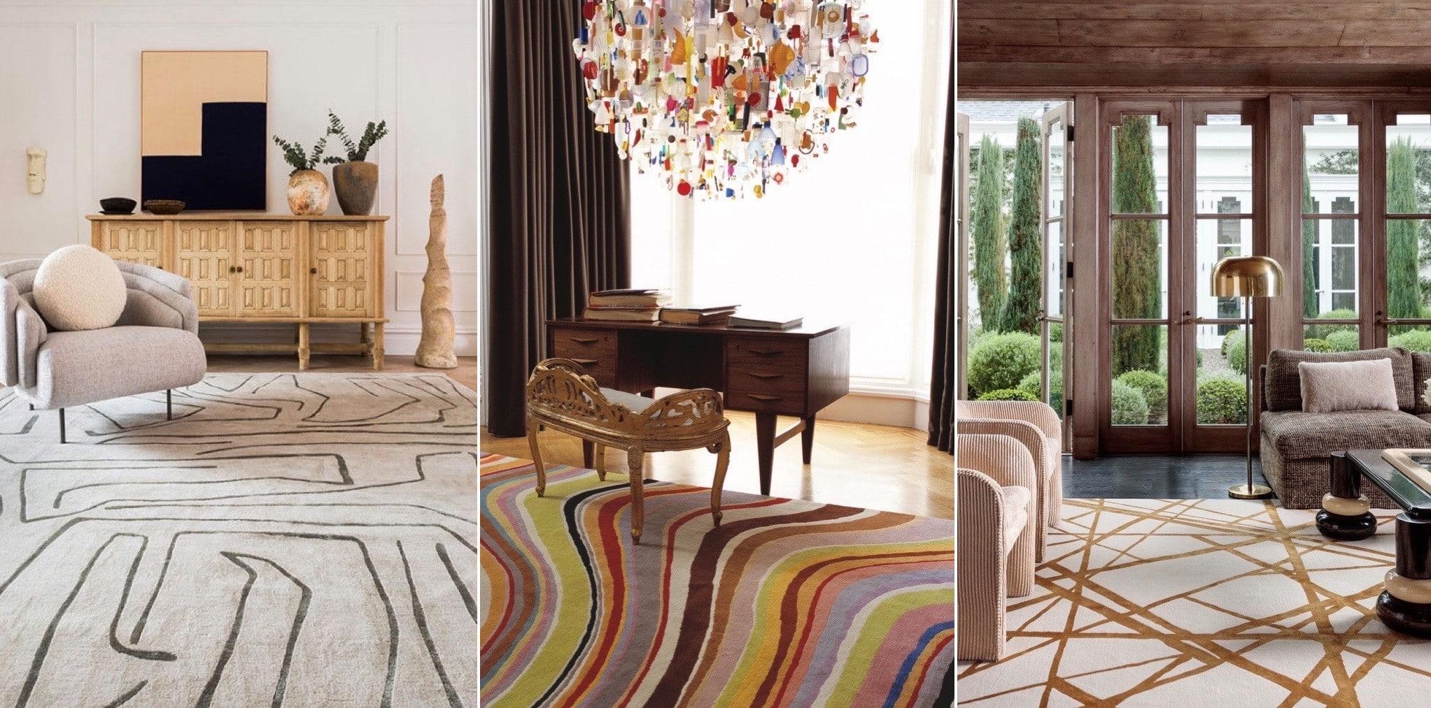 3 exemples de tapis moderne haut de gamme Luxembourg