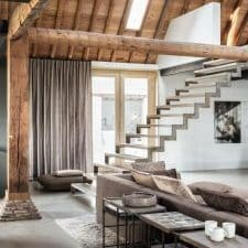 tenture moderne gris taupe