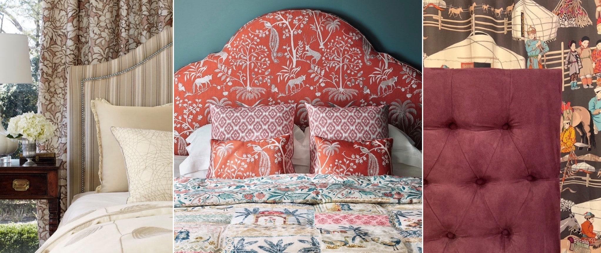3 exemples de tete de lit sur mesure