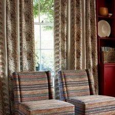 rideau motif coloré