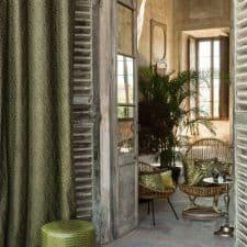 rideau vert olive haut de gamme