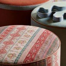 Coussin pouf tissu haut de gamme Luxembourg