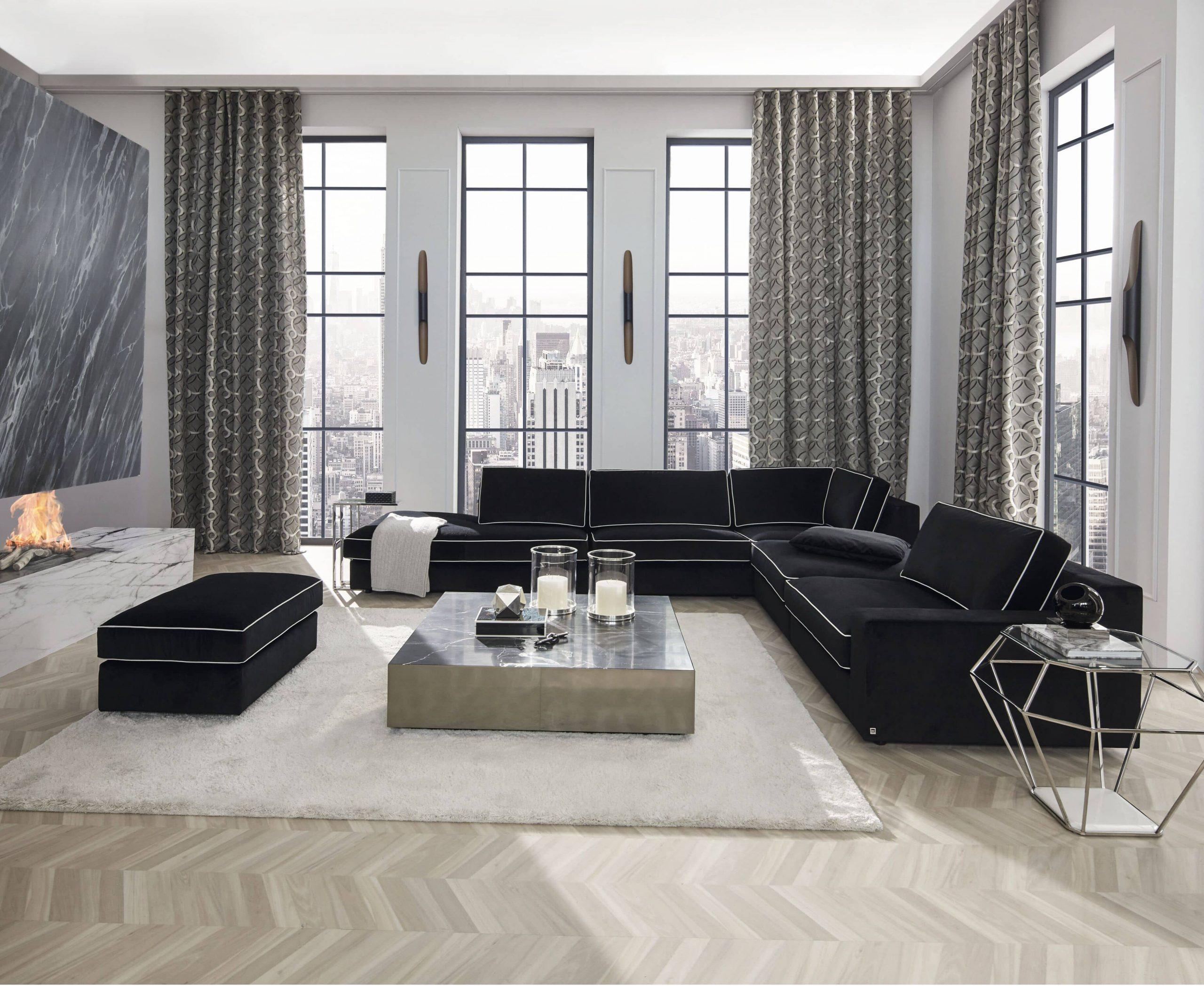 rideau moderne dans un appartement design