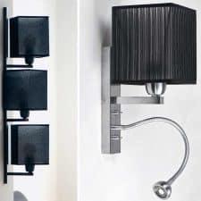 applique carré noir en tissus moderne
