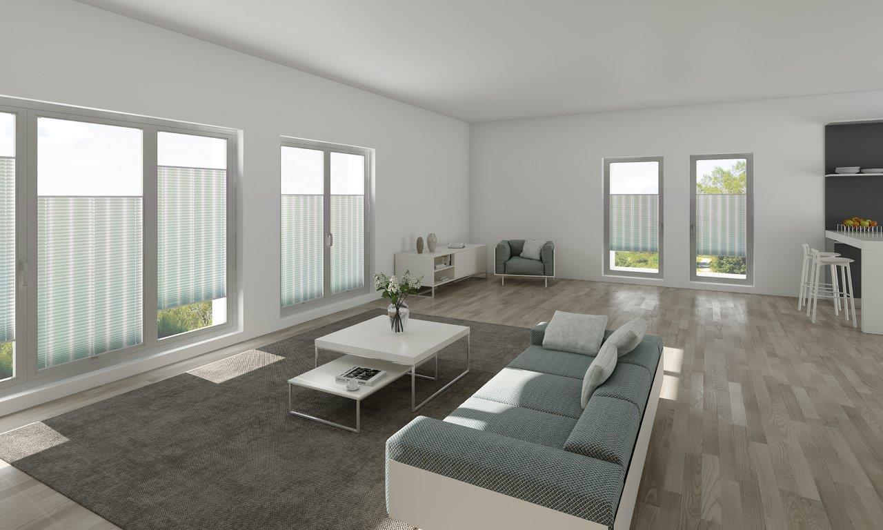 store plissé dans un salon modern